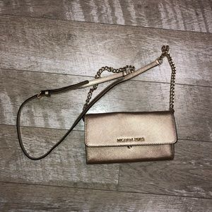 Gold Michael Kors crossbody Bag